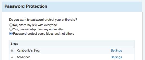 Passwordprotection