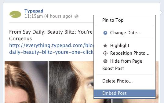 Facebookembedlink