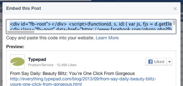 Facebookcode