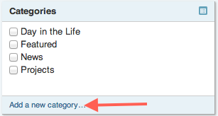 Add a new category