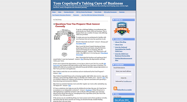 Tom Copeland's Taking Care of Business