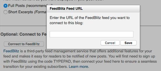 Connect to FeedBlitz