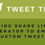 Tweet this! Using Share Link Generator to embed custom tweets