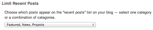 Limit Recent Posts