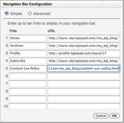 Navigation Bar module