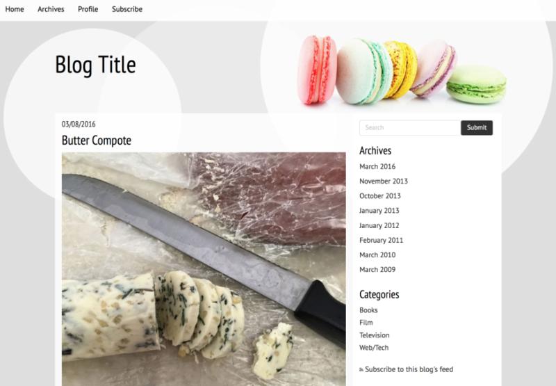 Responsive theme - Gourmet