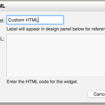Add custom sidebar content with the Embed Your Own HTML module