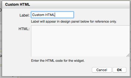 Custom HTML module