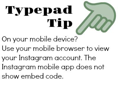 Typepad Tip Instagram