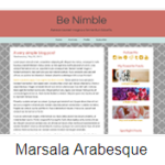 Marsala Arabesque