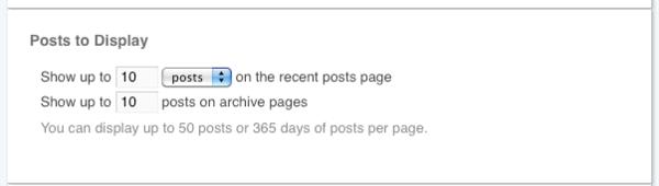 Posts to Display