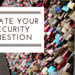 Update Your Security Question