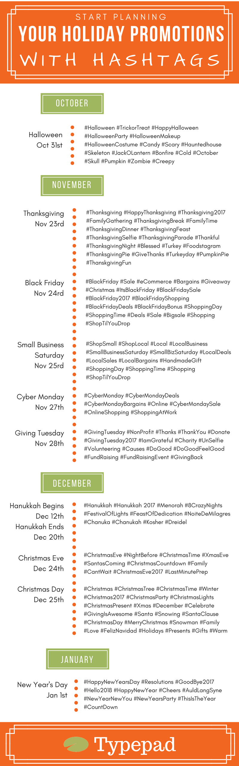 Holiday Season Hashtags