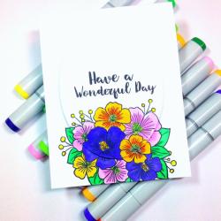 Video Springtime Floral Card