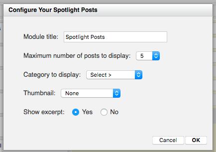 Configure the Spotlight module