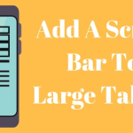 Add A Scroll Bar To Large Tables
