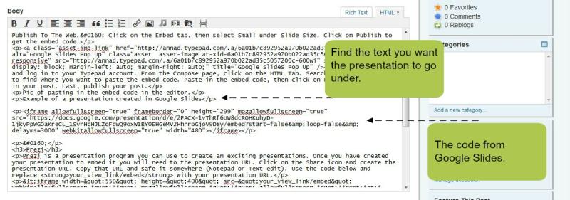 Google Slides code
