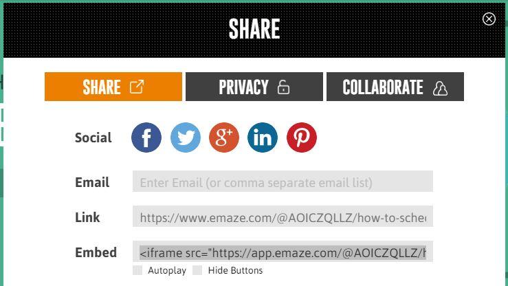 Emaze Share