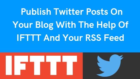 IFTTT and Twitter