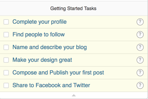 Getting Started Tasks