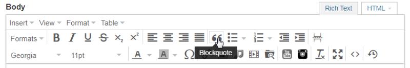 Backquote Editor