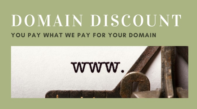 Blog Domain Discount