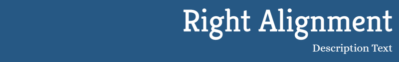 Right Alinment Your Blog Title