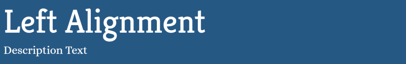 Left Alignment Your Blog Title