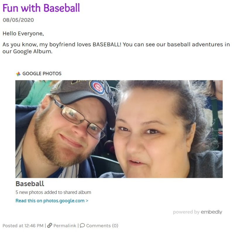 Google Album Post