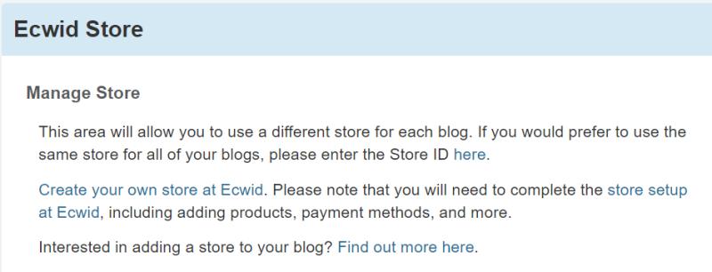 Ecwid Store