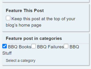Featured Post in Categories