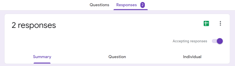 Google Forms Results