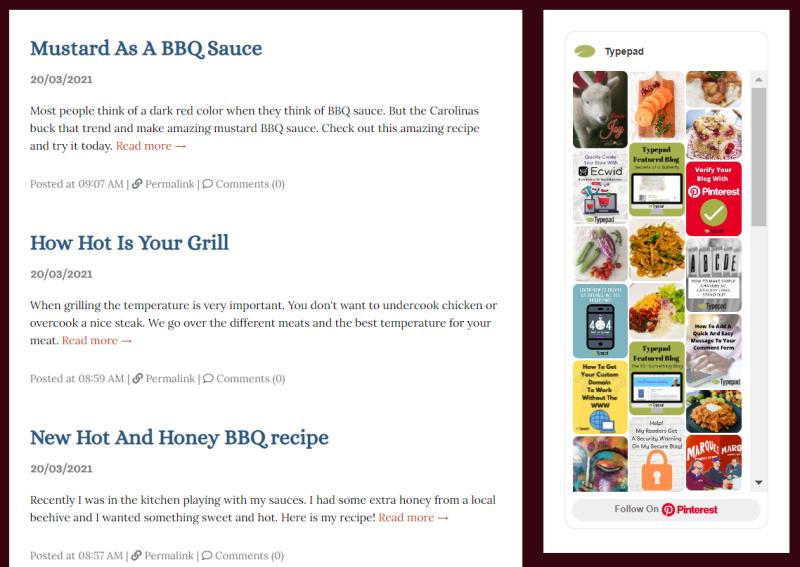 Typepad Sidebar Pinterest