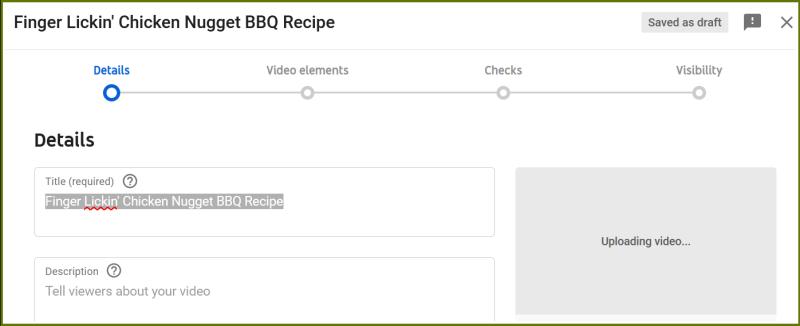 YouTube Description w border