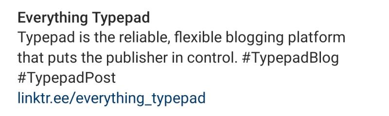 Everything Typepad Instagram