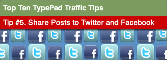 post to typepad twitter and facebook