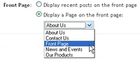 Front page preferences