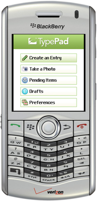 TypePad Mobile for BlackBerry